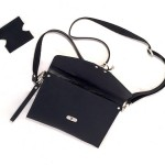 Black Crossbody Clutch with Wristlet