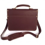 "Burgundy 14"" Briefcase with Buckle"