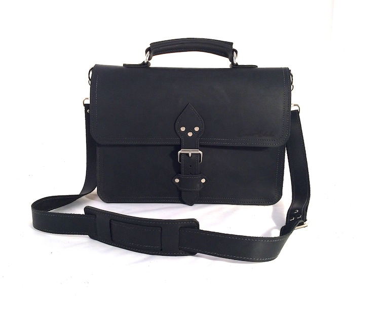 "Black 14"" Briefcase with Buckle"