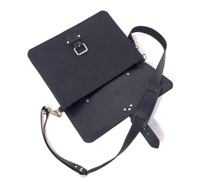 "Black 14"" Briefcase with Buckle"