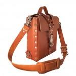 Tan Panic Snap Bag