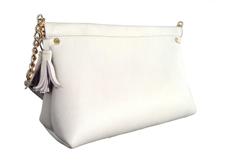 White Spring Frame Shoulder Bag