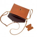 Earthtone Crossbody Clutch with Wristlet