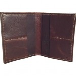 Large Dark Brown Pebble Bi-Fold Wallet