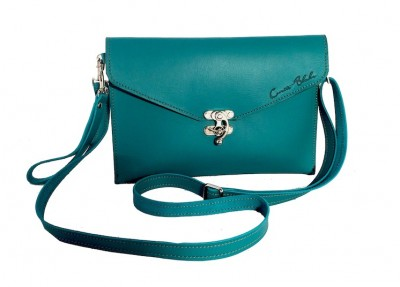 Teal Crossbody Clutch with Wristlet