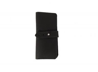 Black Sam Brown Button Wallet copy