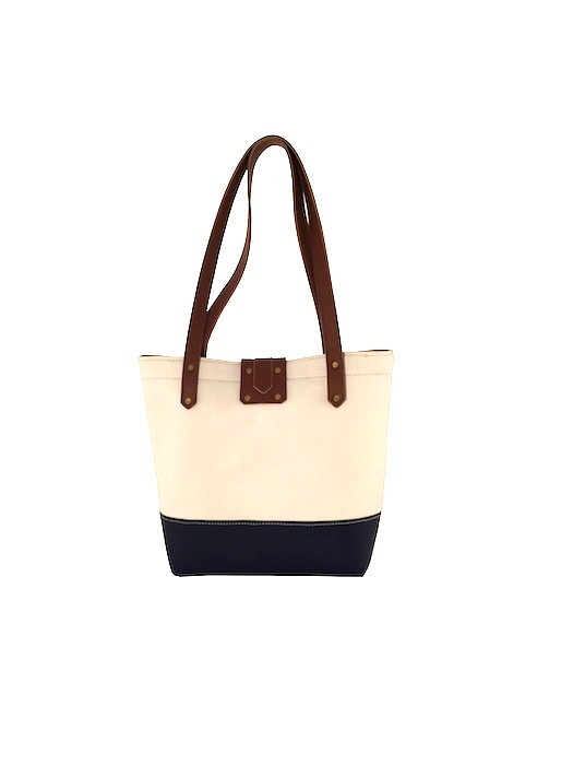 Blue and White Tote