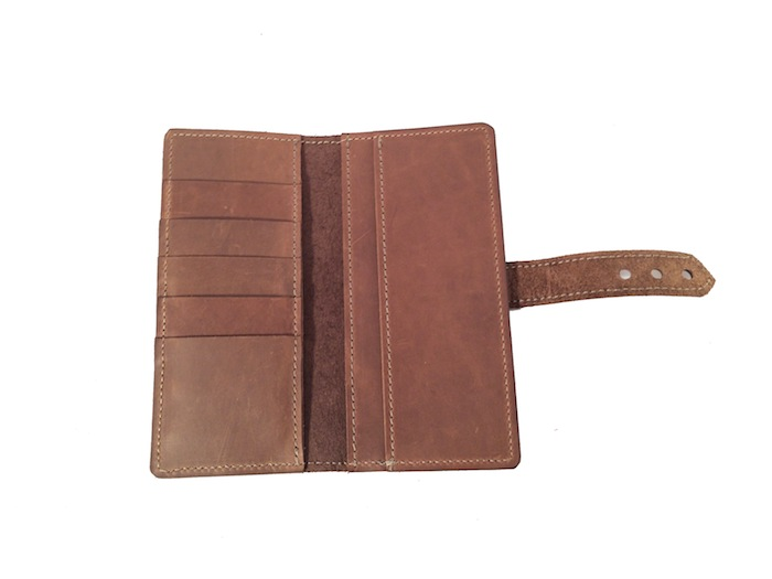 Tall and Slim Wallet- Chocolate