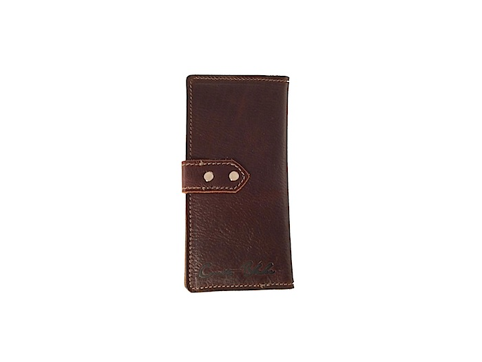 Tall and Slim Wallet - Dark Brown