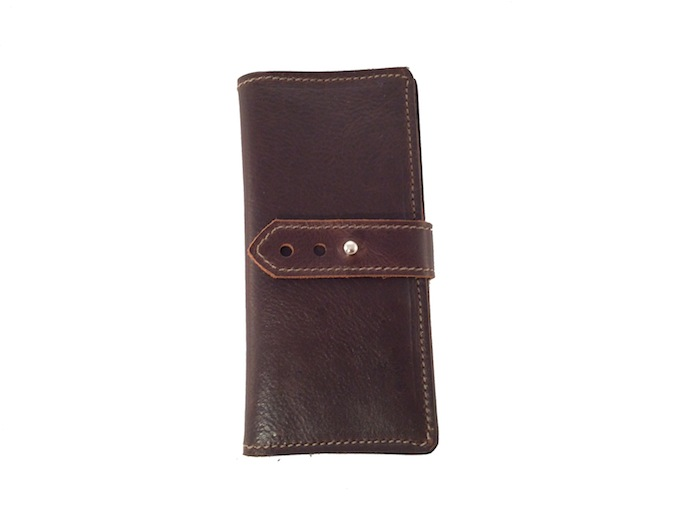 Dark Brown Tall and Slim Wallet