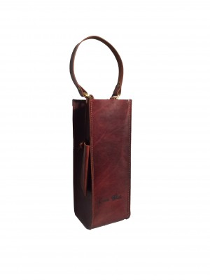 Distressed single wine tote