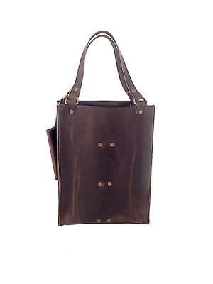 Double Wine Tote dark brown 3