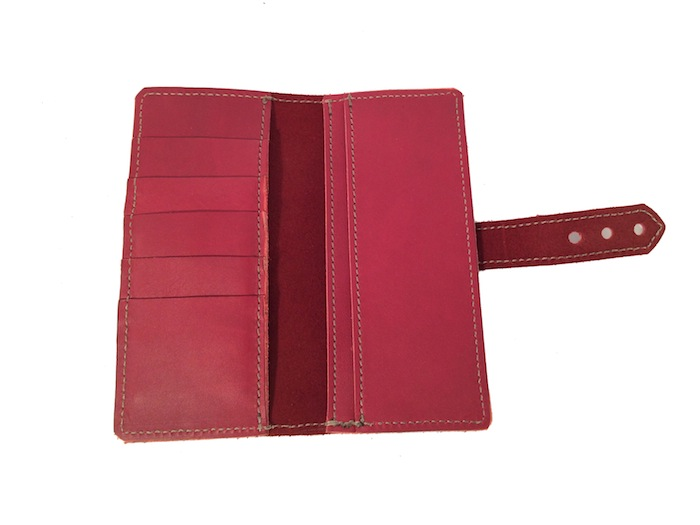Tall and Slim Wallet- Red