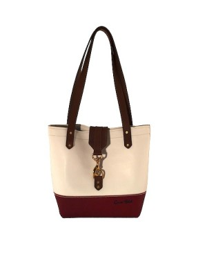 white and red tote