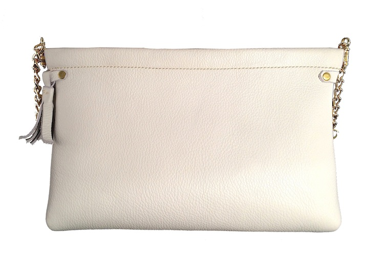 White Spring Frame Shoulder Bag