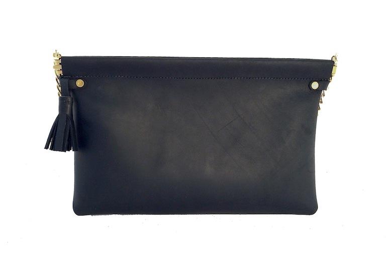 Black Spring Frame Shoulder Bag