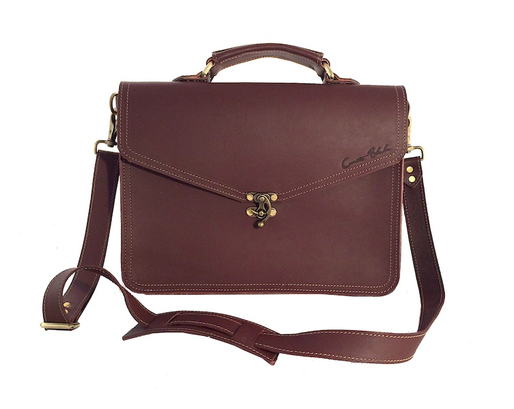 Burgundy Claw Clasp Briefcase