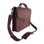 Burgundy Claw Clasp Briefcase