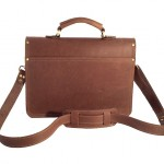 Chocolate claw clasp briefcase