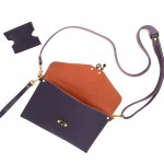 Purple Crossbody Clutch with Wristlet