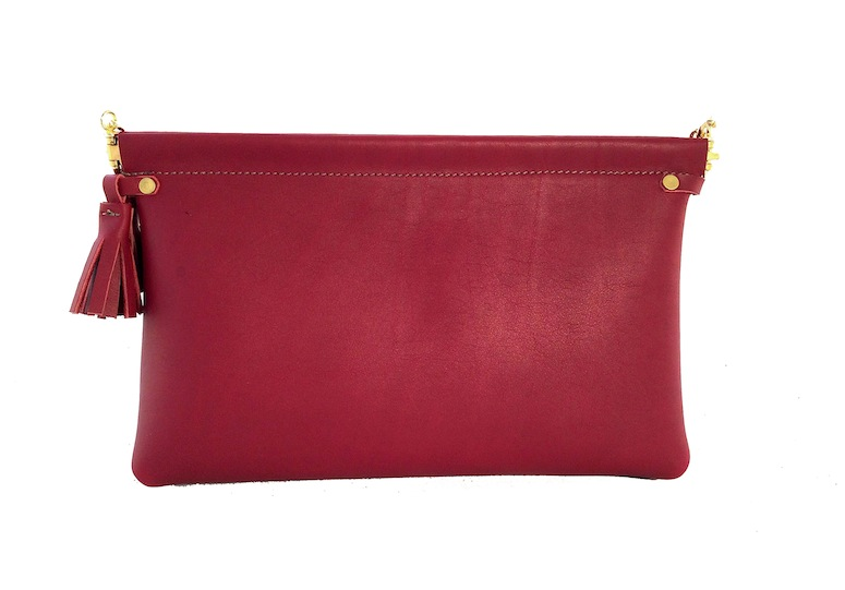 Red Spring Frame Shoulder Bag