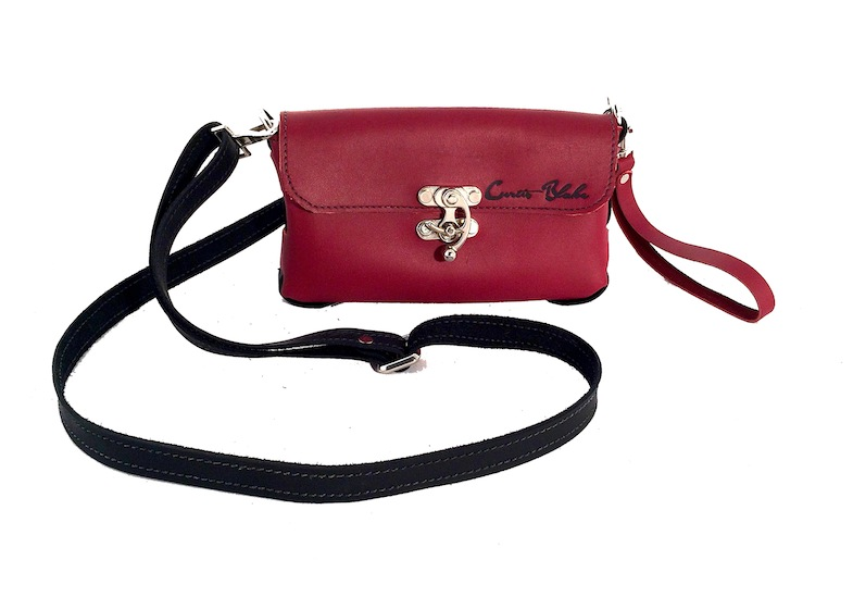 Red Mini Side Threaded Crossbody Purse with Wristlet