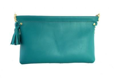 Teal Spring Frame Shoulder Bag